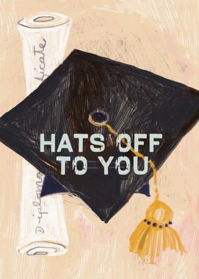 Hats Off To You  | Personalised Congratulations Card