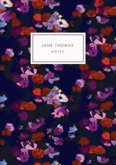 Purple Floral | Personalised Lined Notebook
