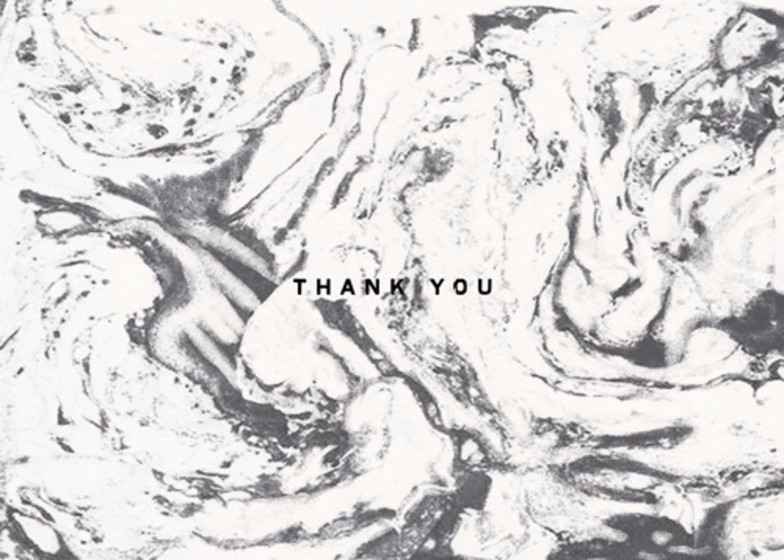 White Marble | Personalised Thank You Card