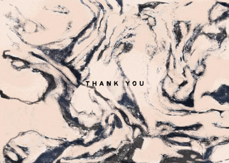 Peach Marble  | Personalised Thank You Card
