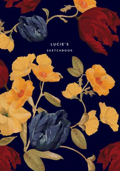 Amber Tulip | Personalised Sketchbook