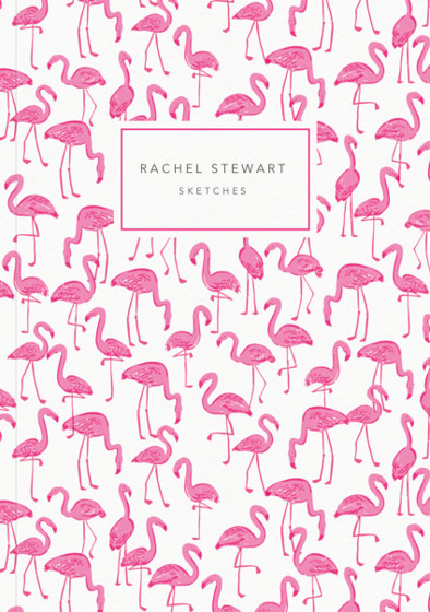 Flamingos  | Personalised Sketchbook