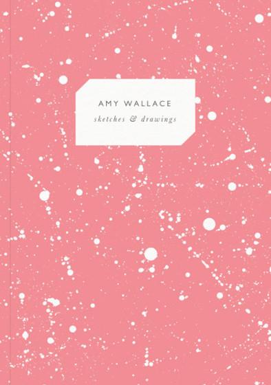 Coral Splatter | Personalised Sketchbook