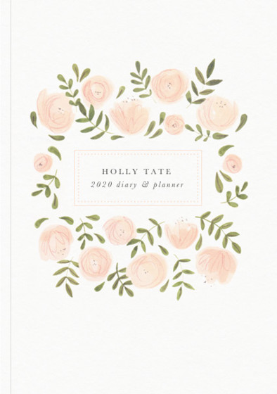 Blush Florals | Personalised 2018 Diary