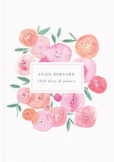 Spring Ranunculus | Personalised 2018 Diary