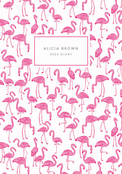 Flamingos  | Personalised 2018 Diary