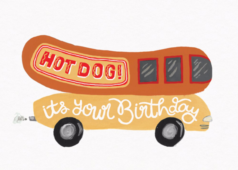 Birthday Hotdog   Personalised Birthday Card