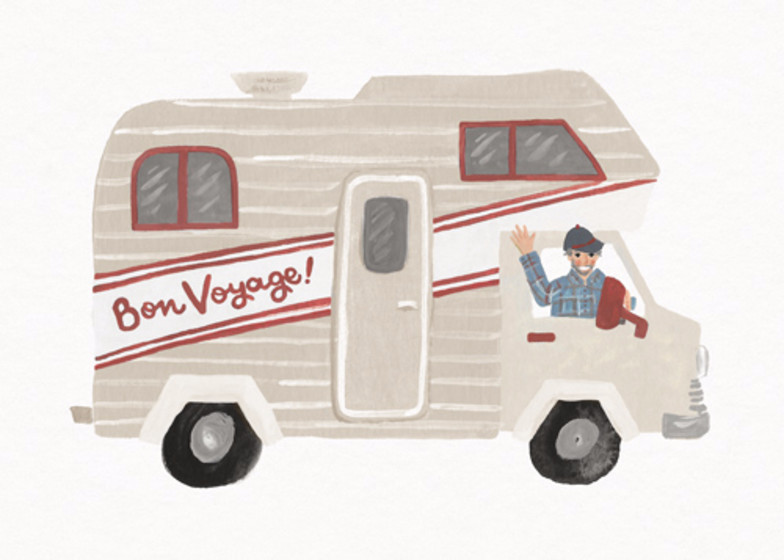 Bon Voyage Campervan | Personalised Good Luck Card