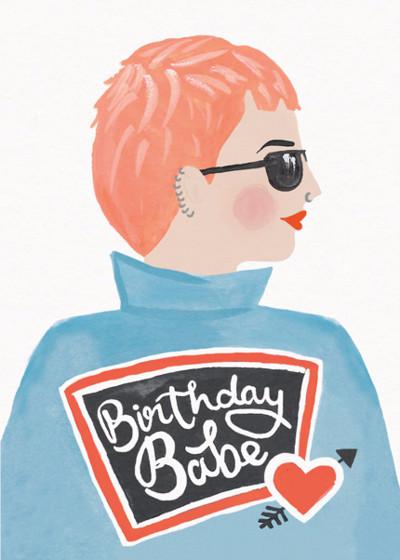 Birthday Babe   Personalised Birthday Card