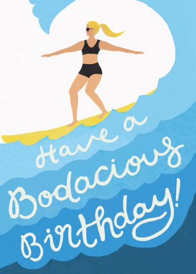 Bodacious Birthday   Personalised Birthday Card