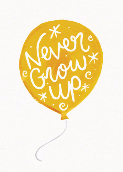 Never Grow Up | Personalised Birthday Card