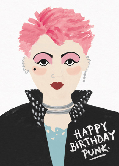Birthday Punk   Personalised Birthday Card