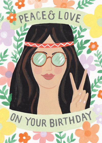 Birthday Peace & Love | Personalised Birthday Card