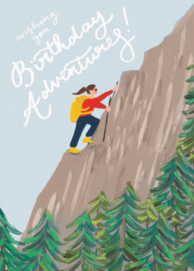 Adventurous Birthday | Personalised Birthday Card
