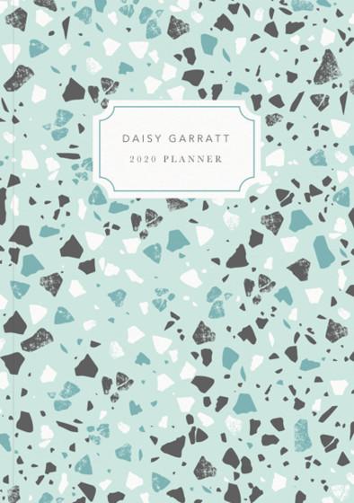 Terrazzo Mint | Personalised 2018 Diary
