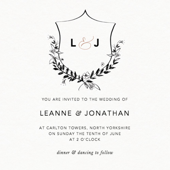 Crest | Personalised Wedding Invitation