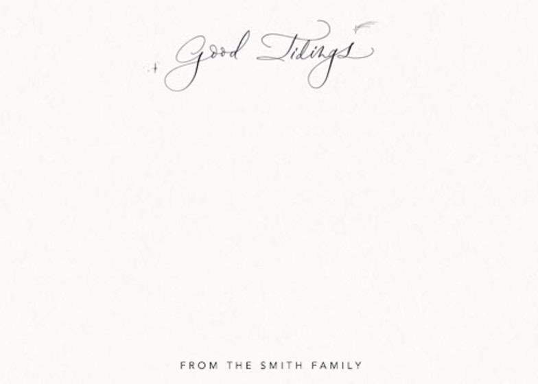 Good Tidings | Personalised Stationery Set