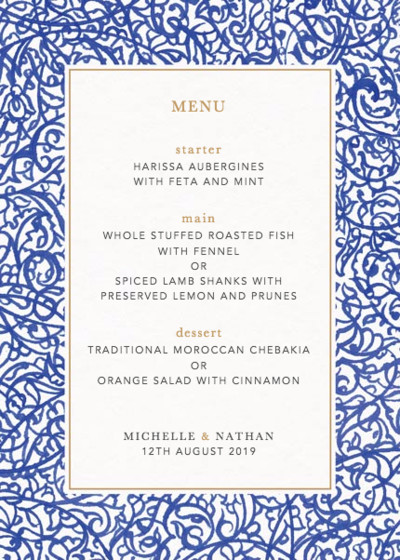 Illumination | Personalised Menu