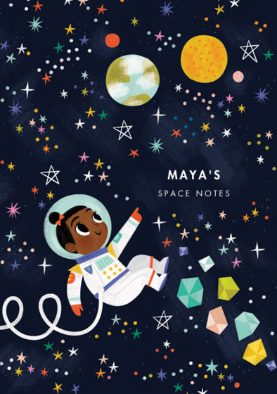 Astronaut Girl I | Personalised Lined Notebook