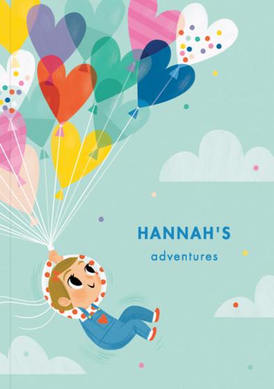 Balloon Girl III | Personalised Lined Notebook