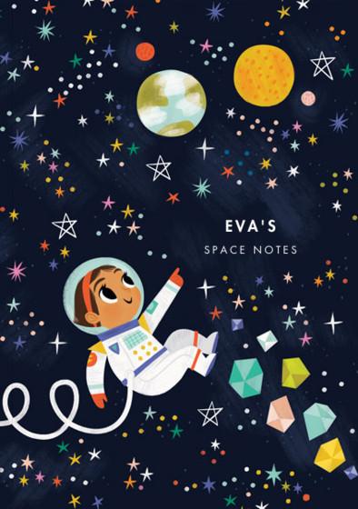 Astronaut Girl II | Personalised Lined Notebook