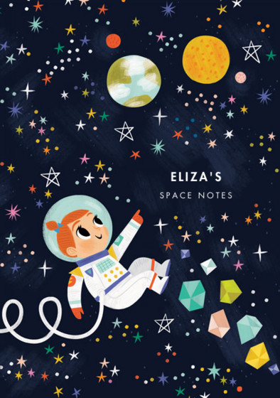 Astronaut Girl IV | Personalised Lined Notebook