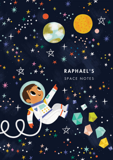 Astronaut Boy II | Personalised Lined Notebook