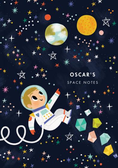 Astronaut Boy III   Personalised Lined Notebook