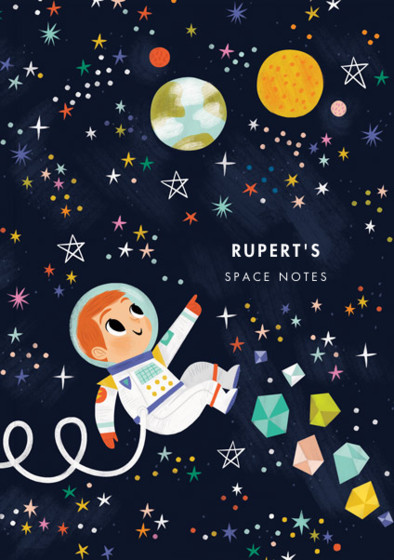Astronaut Boy IV | Personalised Lined Notebook