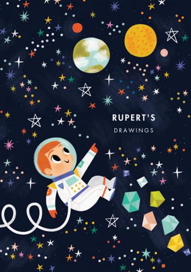 Astronaut Boy IV | Personalised Sketchbook