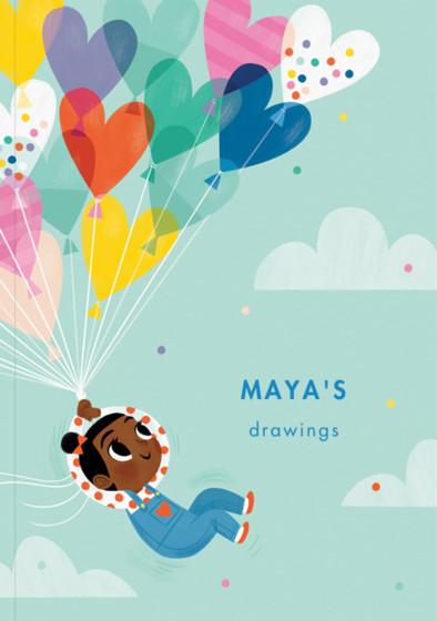 Balloon Girl I | Personalised Sketchbook