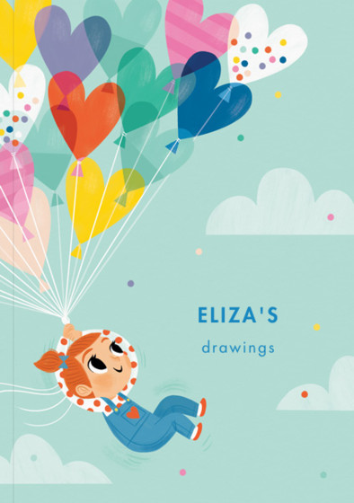 Balloon Girl IV | Personalised Sketchbook