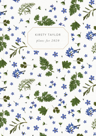 Blue Meadow | Personalised 2018 Diary