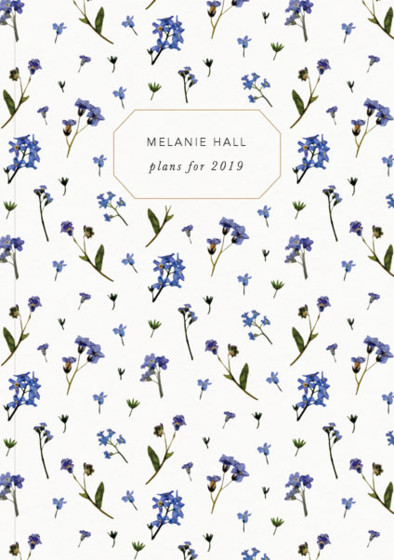 Forget-Me-Not Scatter | Personalised 2018 Diary