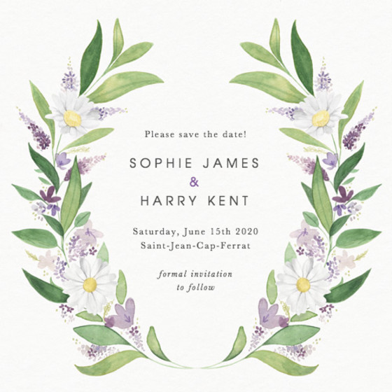 Provençal | Personalised Save The Date