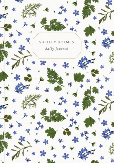 Blue Meadow   Personalised Lined Notebook