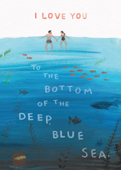 Deep Blue Sea | Personalised Greeting Card