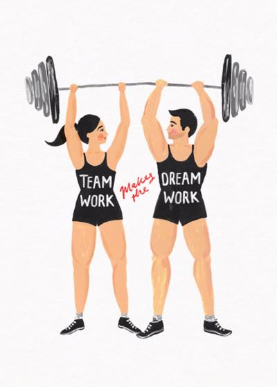 Team Work | Personalised Greeting Card