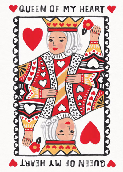 Queen of Hearts | Personalised Greeting Card