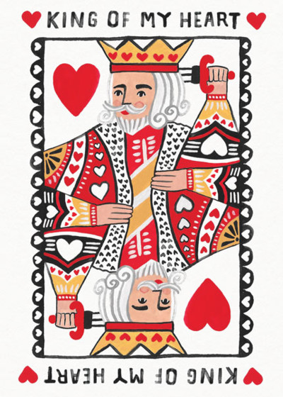 King of Hearts | Personalised Greeting Card