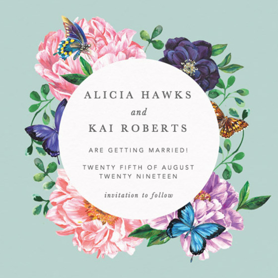 Rosey Posey | Personalised Save The Date