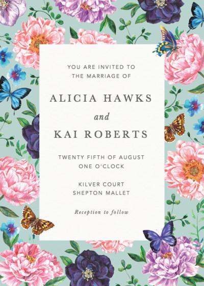 Rosey Posey   Personalised Wedding Invitation