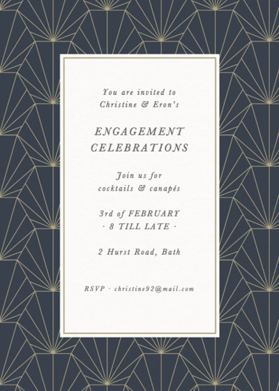 Deco Fan | Personalised Party Invitation