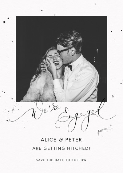 We're Engaged Starry | Personalised Announcement Card