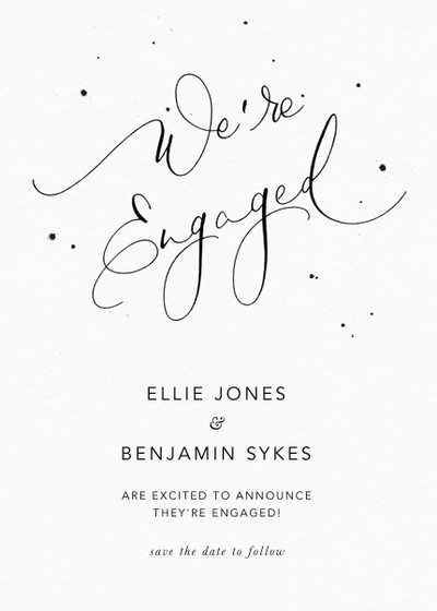 We're Engaged Speckle | Personalised Announcement Card