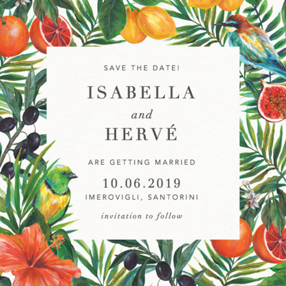 Mediterranean Medley | Personalised Save The Date
