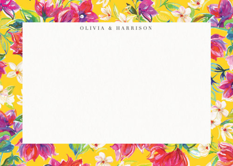 Bougainvillea Bloom | Personalised Stationery Set