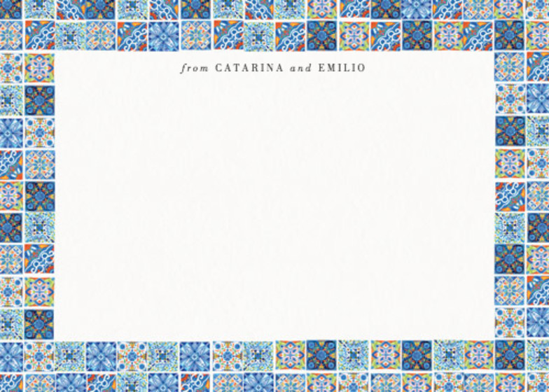 Deia Fiesta Tiles | Personalised Stationery Set