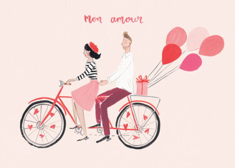 Mon Amour | Personalised Greeting Card