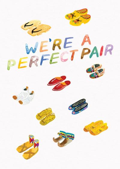 Perfect Pair | Personalised Greeting Card